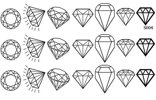 Слайдер дизайн шаблон диамант, камень S004