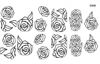 Слайдер дизайн трафарет розы S008