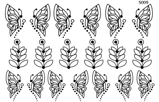 Слайдер дизайн трафарет бабочка S009