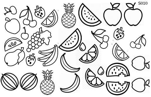 Слайдер дизайн трафарет фрукты S010