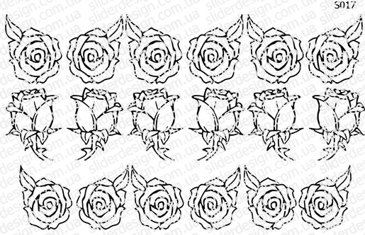 Слайдер дизайн свит блюм роза S017