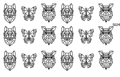 Слайдер дизайн геометрические звери S024