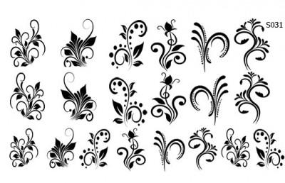 Слайдер дизайн вензеля цветы S031