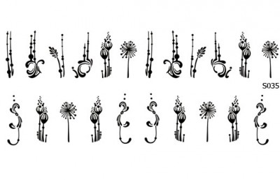 Слайдер дизайн цветы геометрия S035