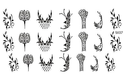 Слайдер дизайн листья геометрия S037