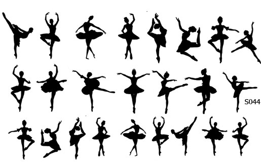 Слайдер дизайн балерина S044