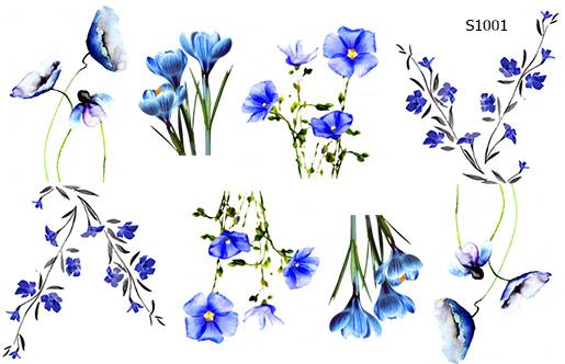 Слайдер дизайн весенние цветы S1001