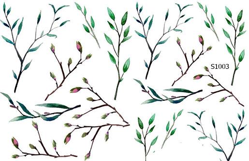 Слайдер дизайн листья цветки на ветке S1003