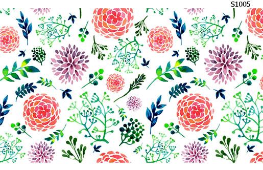 Слайдер дизайн нарисованные цветы листья S1005
