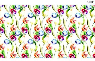 Слайдер дизайн цветочная акварель S1006