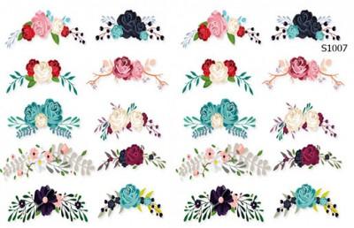 Слайдер дизайн веночки лунки из цветов S1007