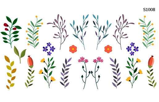 Слайдер дизайн ветки с листьями, растения S1008