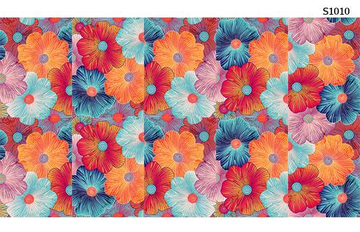 Слайдер дизайн объемные цветки S1010