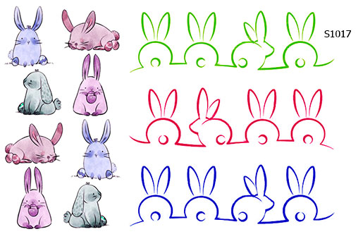 Слайдер дизайн пасхальный кролик S1016