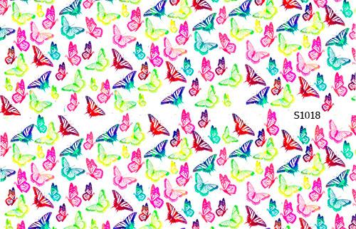 Слайдер дизайн мелкие бабочки S1018