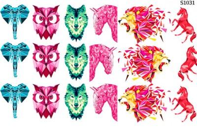 Слайдер дизайн геометрические животные цвет S1031