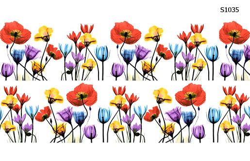 Слайдер дизайн букет цветов полупрозрачные S1035