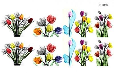 Слайдер дизайн букет тюльпанов S1036