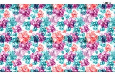 Слайдер дизайн абстрактные цветы пастель S1037