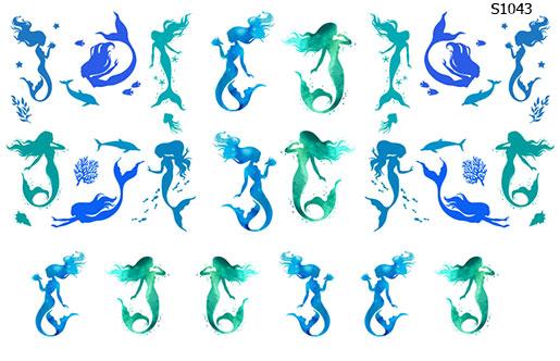 Слайдер дизайн русалки морские S1043