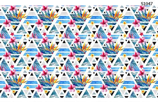 Слайдер дизайн летние треугольники S1047