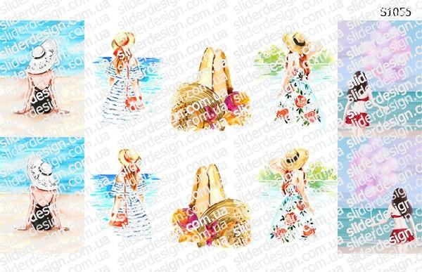 Слайдер дизайн девушки пляж S1055