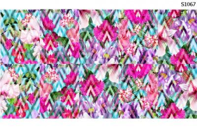 Слайдер дизайн цветы геометрический фон S1067