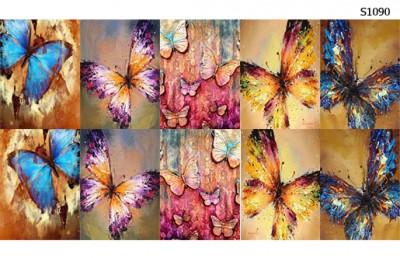 Слайдер дизайн бабочки осень S1090