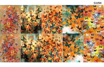 Слайдер дизайн бабочки осень S1094