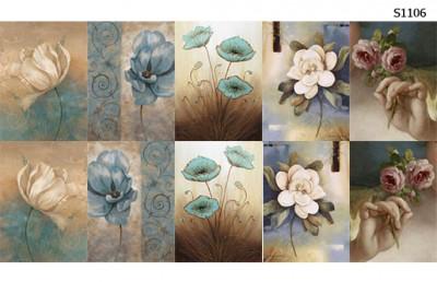 Слайдер дизайн цветы пастель S1106