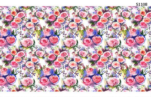 Слайдер дизайн нежные цветы пастель S1108