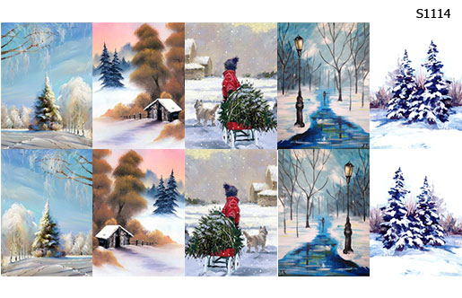 Слайдер дизайн зима пейзаж S1114