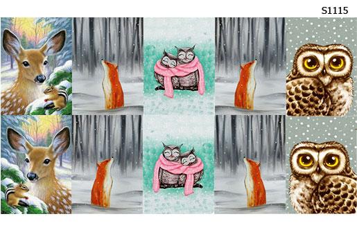 Слайдер дизайн лесные звери зимой S1115