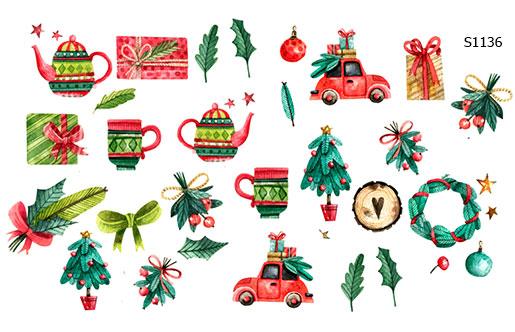 Слайдер дизайн элементы Рождества S1136