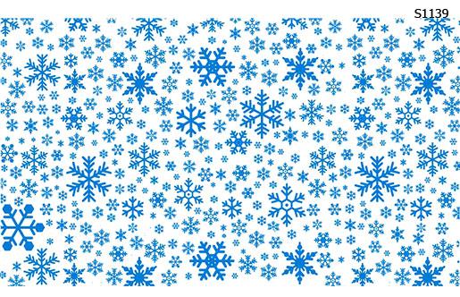 Слайдер дизайн снежинки разный размер S1139