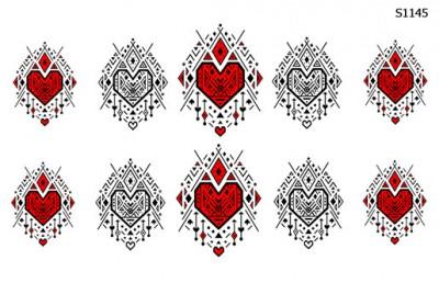Слайдер дизайн сердце геометрия S1145