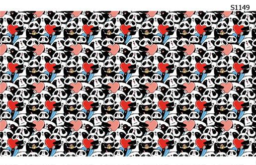 Слайдер дизайн панда валентинка S1149