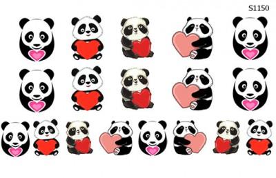 Слайдер дизайн панда с сердцем в руках S1150