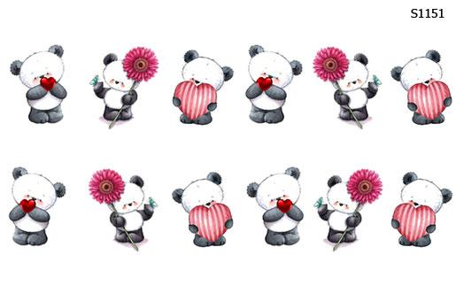 Слайдер дизайн мишка панда S1151