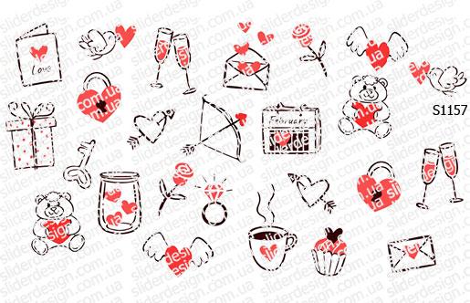 Слайдер дизайн набор валентинок S1157