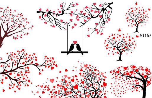 Слайдер дизайн дерево любви S1167