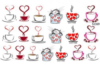 Слайдер дизайн кофе любовь S1169