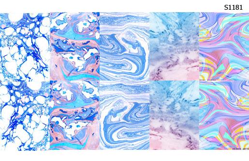 Слайдер дизайн мрамор голубой S1181