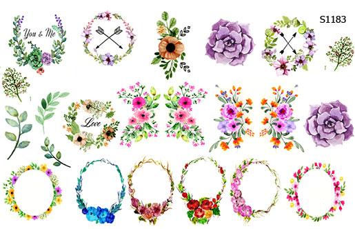 Слайдер дизайн плетеные цветы S1183