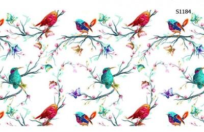 Слайдер дизайн ветки с птицами S1184