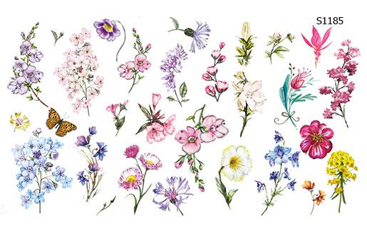 Слайдер дизайн полевые цветы S1185