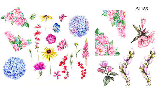 Слайдер дизайн мини-цветы S1186