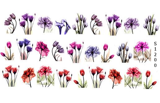 Слайдер дизайн цветы мини S1200