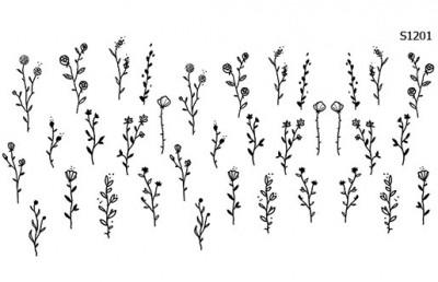 Слайдер дизайн цветы набросок S1201