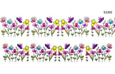 Слайдер дизайн поляна цветков S1202